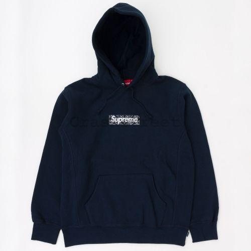 Bandana Box Logo Hooded Sweatshirt - Navy