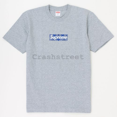 Bandana Box Logo Tee - Grey