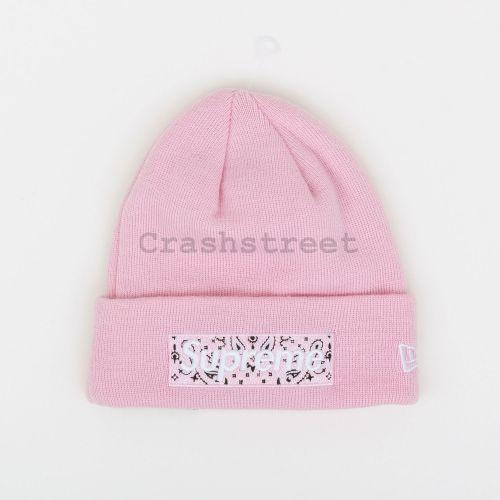 New Era Box Logo Beanie - Pink