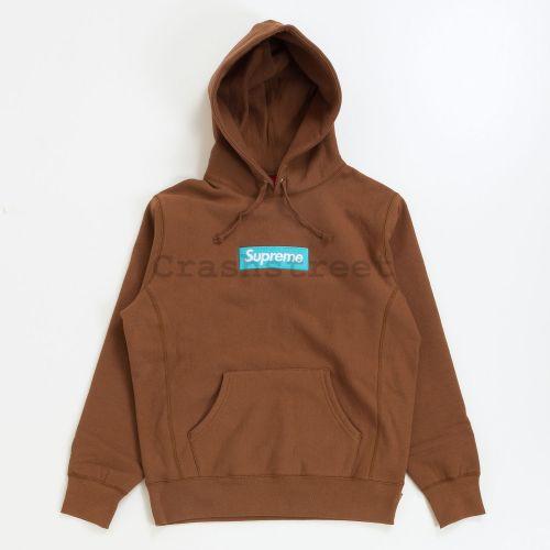 Box Logo Hooded Sweatshirt - Brown