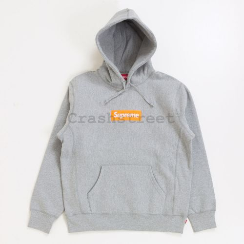 Box Logo Hooded Sweatshirt - Grey