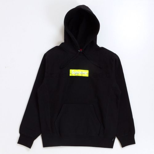 Box Logo Hooded Sweatshirt - Black