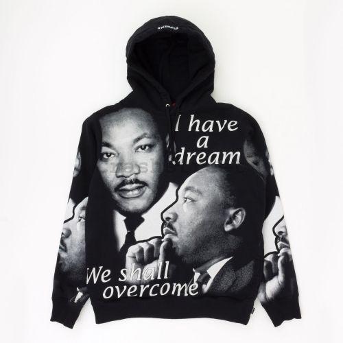 MLK Hooded Sweatshirt - Black