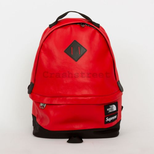 The North Face Leather Day Pack - Red