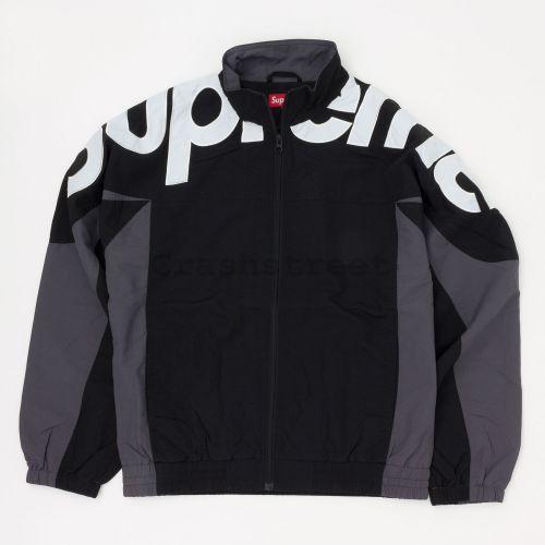 Shoulder Logo Track Jacket - Black
