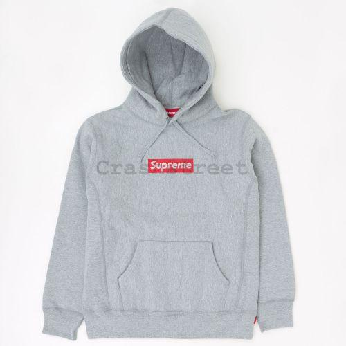 Swarovski Box Logo Hooded Sweatshirt - Grey