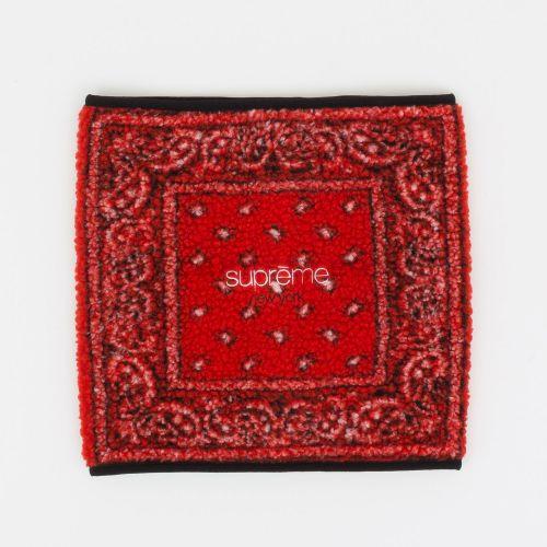Bandana Fleece Neck Gaiter - Red