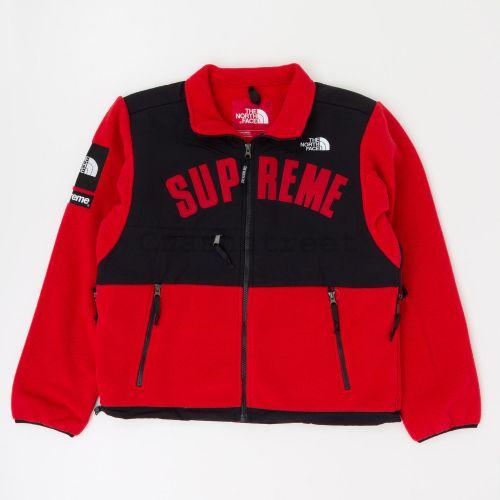 The North Face Arc Logo Denali Fleece Jacket - Red