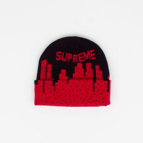 New York Beanie - Black / Red