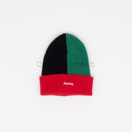 Overdyed Beanie - Red / Green