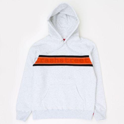 Chest Stripe Logo Hooded Sweatshirt - Grey