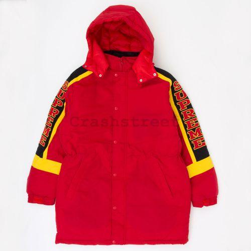 Sleeve Logo Sideline Parka - Red